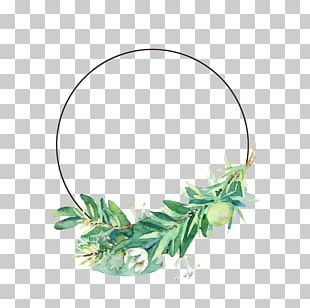 Leaf Flower Watercolor Painting PNG