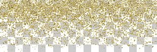 Wedding Invitation Confetti Paper Glitter Gold PNG