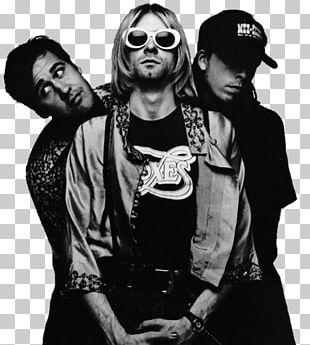 Kurt Cobain Nirvana Nevermind Musical Ensemble Poster PNG