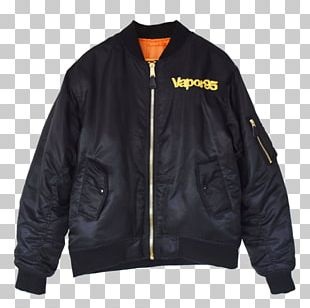 Leather Jacket Outerwear Flight Jacket PNG