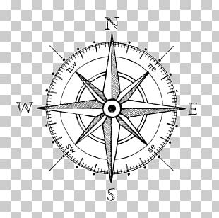 Compass Rose Drawing Hand Compass PNG