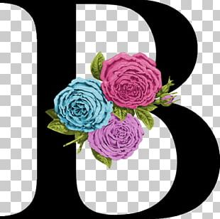 Garden Roses Letter Floral Design Logo Font PNG