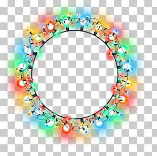 Christmas Lights Circle PNG