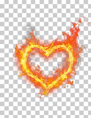 Heart Fire Flame PNG