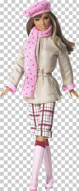 Barbie Doll Benetton Group Fashion Scarf PNG