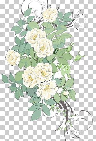 Flower Painting Pattern PNG