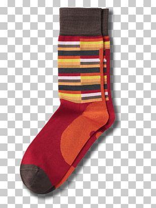 Sock Violet Orange Red Blue PNG