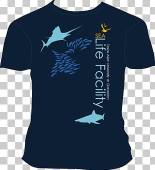 T-shirt Texas A&M University At Galveston Navy Sleeve PNG