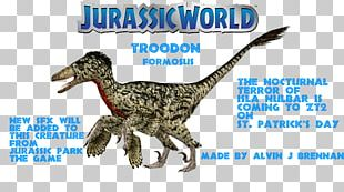 Velociraptor Jurassic Park: The Game Troodon The Lost World: Jurassic Park YouTube PNG