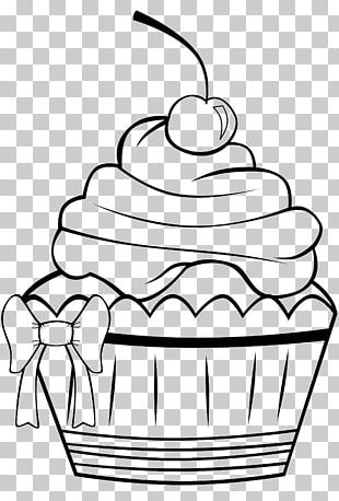 Cupcake Frosting & Icing Muffin Coloring Book PNG
