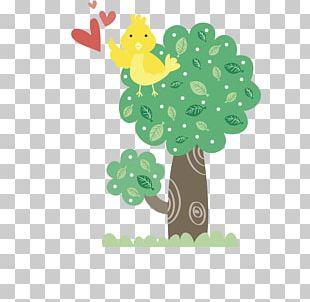 Bird Cartoon Tree Illustration PNG