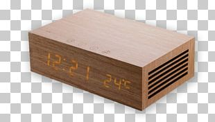 Alarm Clocks Wood Radio Clock PNG