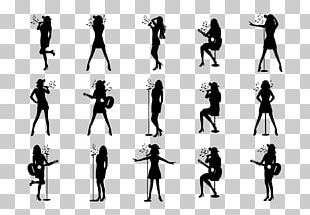 Silhouette Art Singing PNG