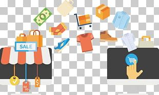 E-commerce Online Shopping Retail Business Infographic PNG