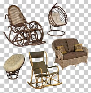 Rocking Chairs Wing Chair Furniture Ротанг PNG