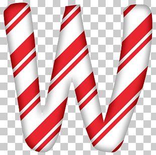Alphabet ABC Christmas Letter Candy Cane PNG
