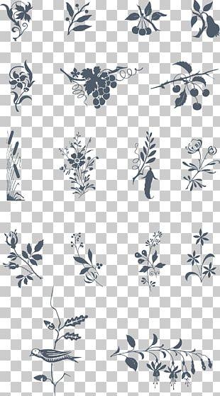 Twig Petal White PNG