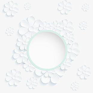 White Circle Flower PNG