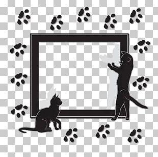 Dalmatian Dog Black Cat Black And White Drawing PNG