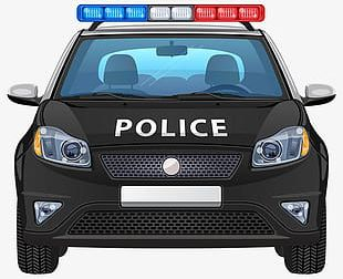 Painted Black Police Car Police PNG