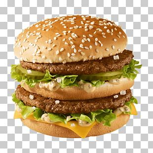 Hamburger McDonald's Big Mac Cheeseburger Fast Food French Fries PNG