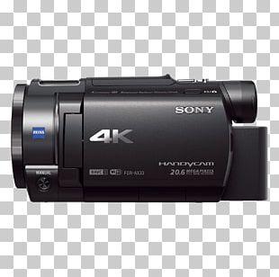 Sony Handycam FDR-AX33 4K Resolution Video Cameras PNG