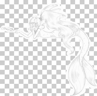 White Figure Drawing Line Art Sketch PNG