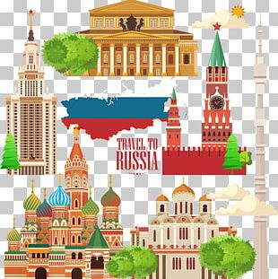 Moscow Kremlin Travel Illustration PNG