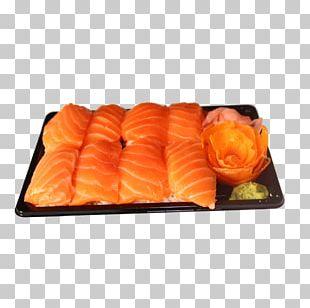 California Roll Smoked Salmon Sashimi PNG