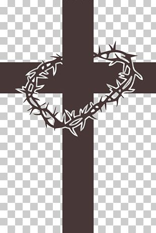Crown Of Thorns Christian Cross Cross And Crown Christianity PNG
