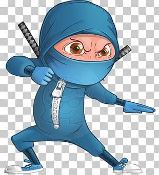 Cartoon Ninja Character Animation PNG