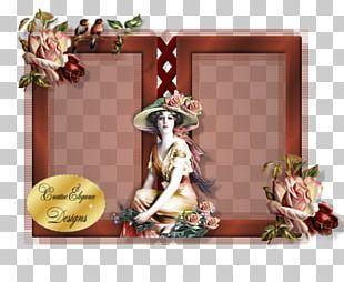Floral Design Flower Frames Figurine PNG