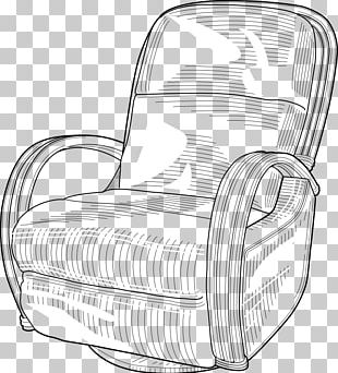 Recliner Eames Lounge Chair Couch PNG
