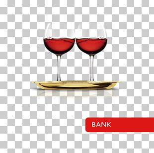 Red Wine Bank Wine Glass Publicity PNG