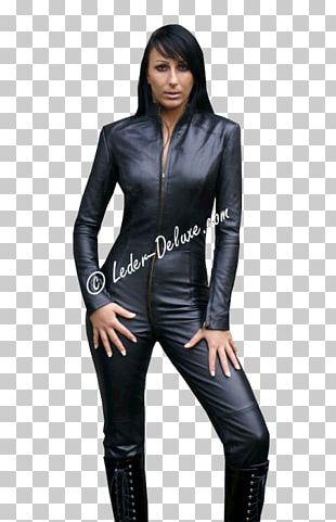 Leather Jacket Clothing Catsuit Vêtement En Cuir PNG