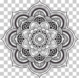 Mandala Coloring Book Meditation Geometric Shape Child PNG