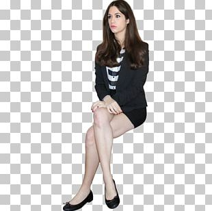 Sitting Manspreading Woman Business PNG