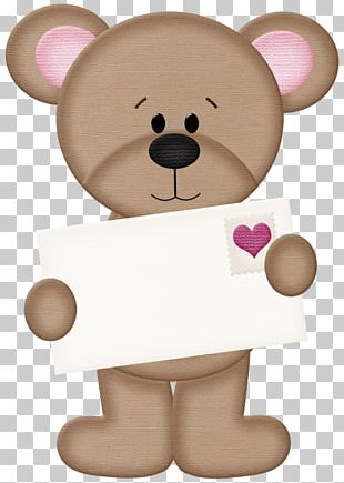 Bear Valentine's Day Heart PNG