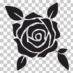 Black Rose Silhouette PNG