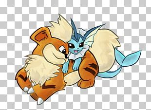 Pokémon X And Y Growlithe Arcanine Vaporeon PNG