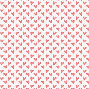 Pink Heart Seamless Background PNG