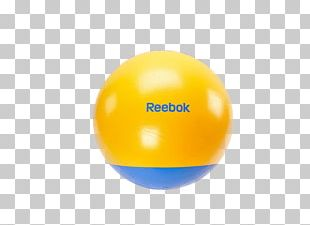 Yellow Exercise Ball Sphere Cyan PNG