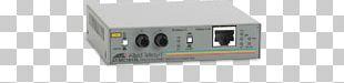 Fiber Media Converter Allied Telesis Fast Ethernet 100BASE-FX Optical Fiber PNG