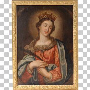 Oil Painting St. John The Baptist Portrait PNG