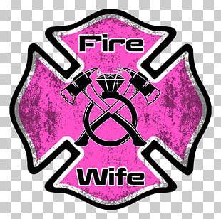 Firefighter Fire Department Decal Maltese Cross PNG