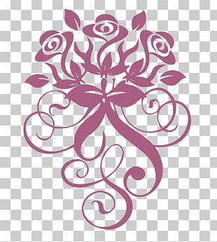 Rose Window Decal Bridal Shower PNG