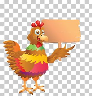 Rooster Cartoon Stock Illustration PNG