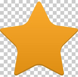 Angle Symbol Yellow Orange Star PNG