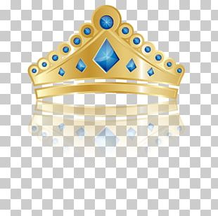Princess Crown Blue PNG