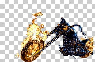 Ghost Rider (Johnny Blaze) Vision Motorcycle Clint Barton PNG